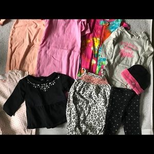 9 piece lot of baby girl clothes